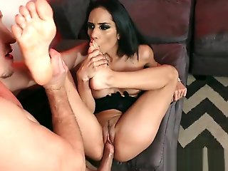 big tits, babe, fetish, foot fetish, footjob, hd