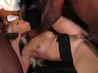 blond, big cock, blowjob, bukkake, creampie, cuckold