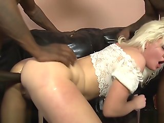 blond, anal, double penetration, gangbang, hd, interracial