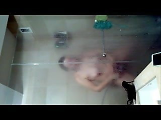 hidden camera, shower, milf, voyeur, orgasm, wife