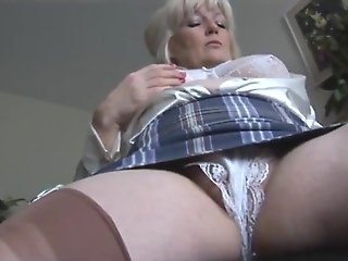 masturbation, british, mature, milf, stockings, straight